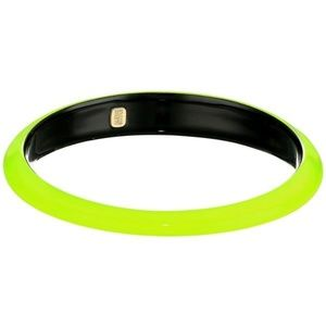 ALEXIS BITTAR Neon Yellow Lucite Tapered Bangle
